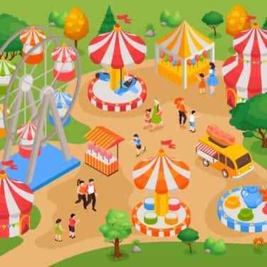 Ornano Taravo Turismo @IT ~ Turismo Taravo Ornano (2102.i121.002 isometric amusement park illustration min)